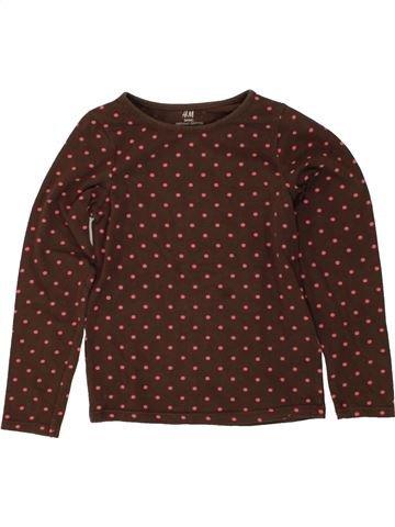T-shirt manches longues fille H&M marron 6 ans hiver #1494468_1