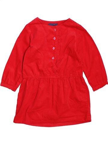 Robe fille TAPE À L'OEIL rouge 18 mois hiver #1494471_1