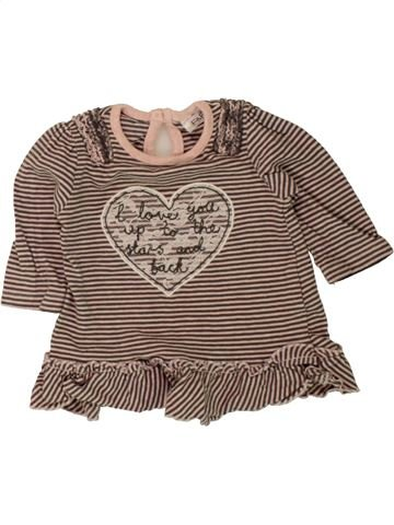 T-shirt manches longues fille F&F marron 1 mois hiver #1494591_1