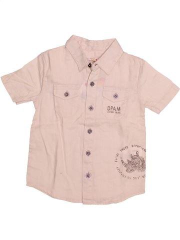 Chemise manches courtes garçon DPAM violet 3 ans été #1494758_1