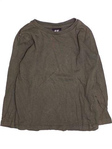 T-shirt manches longues garçon H&M gris 4 ans hiver #1494765_1