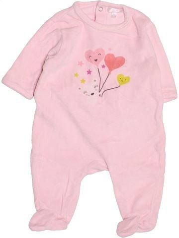 Pyjama 1 pièce fille KIABI rose 3 mois hiver #1494817_1