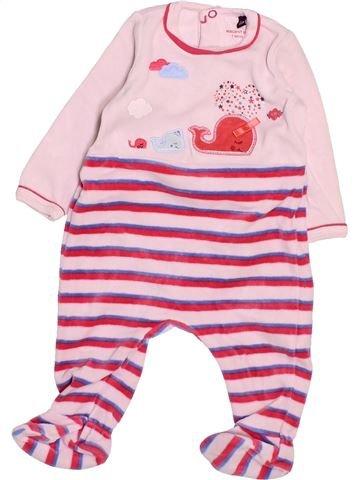 Pyjama 1 pièce fille SERGENT MAJOR rose 3 mois hiver #1494825_1