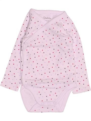 T-shirt manches longues fille KIMBALOO rose 3 mois hiver #1494826_1