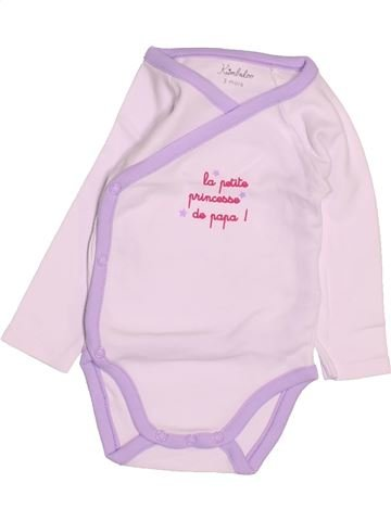 T-shirt manches longues fille KIMBALOO rose 3 mois hiver #1494827_1