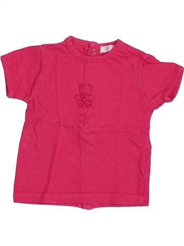 T-shirt manches courtes fille KIABI rose 3 mois été #1494833_1