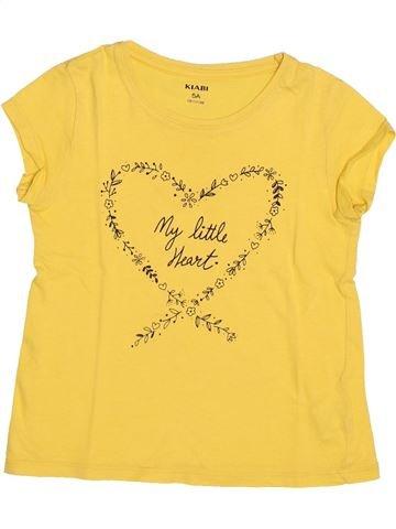 T-shirt manches courtes fille KIABI jaune 5 ans été #1494907_1