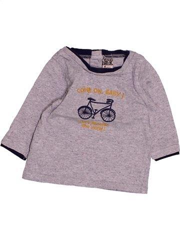 T-shirt manches longues garçon TAPE À L'OEIL violet 6 mois hiver #1494978_1