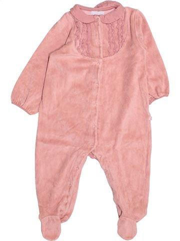 Pyjama 1 pièce fille OKAIDI rose 18 mois hiver #1494991_1