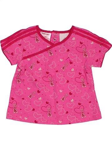 T-shirt manches courtes fille ADIDAS rose 6 mois été #1495028_1