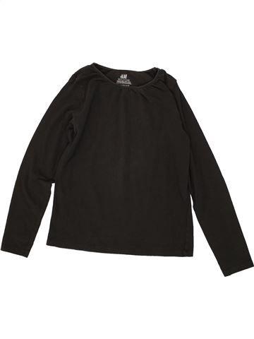T-shirt manches longues fille H&M noir 8 ans hiver #1495139_1