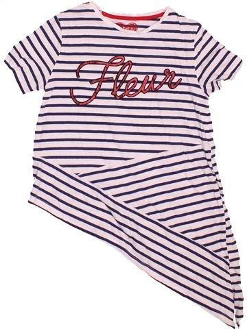 T-shirt manches courtes fille F&F violet 11 ans été #1495251_1