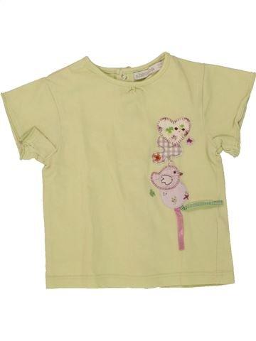 T-shirt manches courtes fille ABSORBA beige 12 mois été #1495280_1