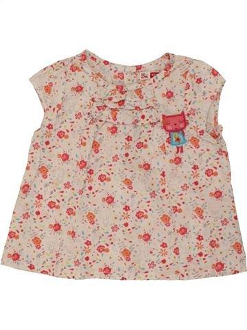 Blusa de manga corta niña DPAM beige 12 meses verano #1495335_1