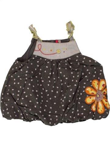 Blusa de manga corta niña ORCHESTRA marrón 12 meses verano #1495360_1