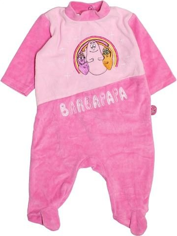 Pyjama 1 pièce fille BARBAPAPA rose 3 mois hiver #1495439_1