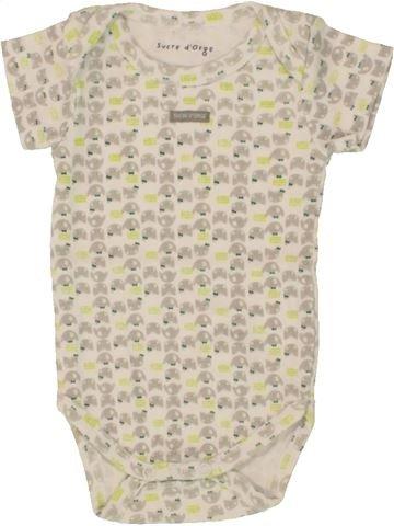T-shirt manches courtes fille SUCRE D'ORGE blanc 3 mois été #1495482_1