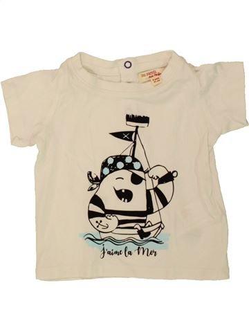 T-shirt manches courtes garçon DPAM bleu 9 mois été #1495862_1