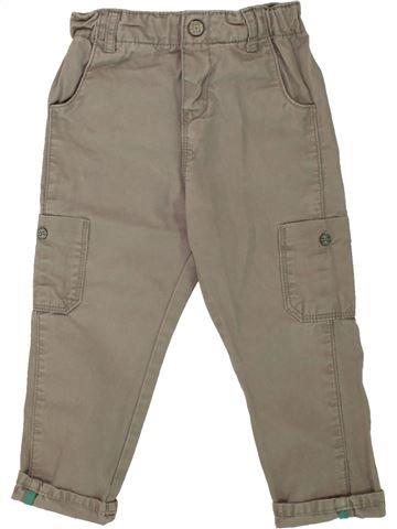 Pantalon garçon OKAIDI marron 2 ans hiver #1496023_1
