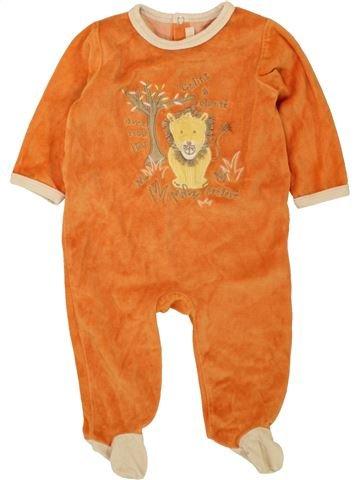 Pyjama 1 pièce garçon GEMO orange 6 mois hiver #1496084_1