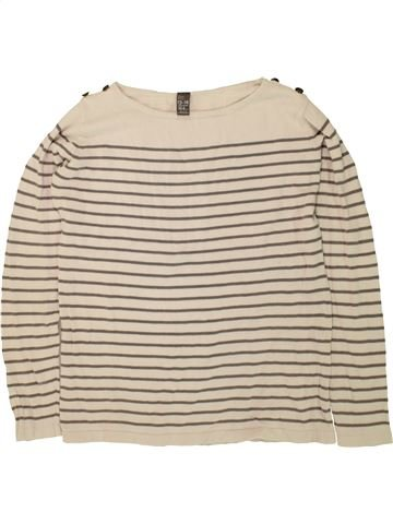 Pull fille ZARA beige 14 ans hiver #1496229_1