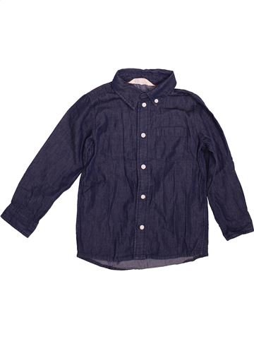 Camisa de manga larga niño H&M azul 4 años invierno #1496415_1