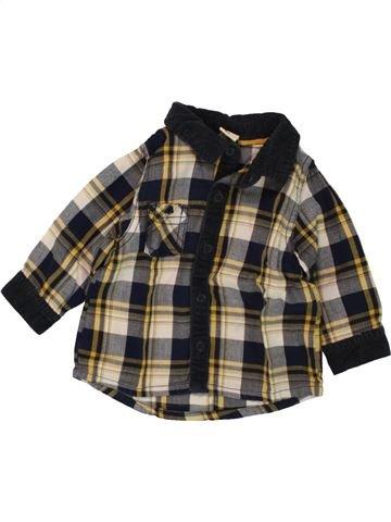 Chemise manches longues garçon TAPE À L'OEIL marron 6 mois hiver #1496502_1