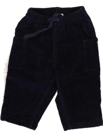 Pantalon garçon PETIT BATEAU noir 6 mois hiver #1496577_1