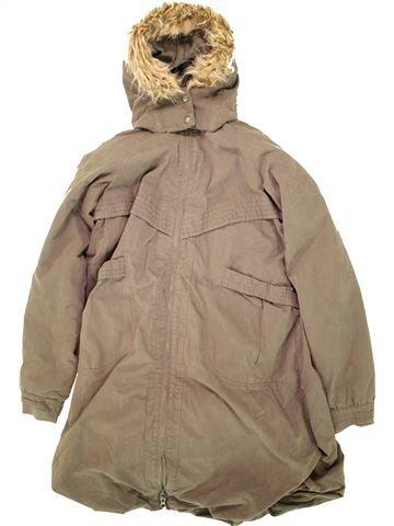Manteau fille OKAIDI beige 14 ans hiver #1496612_1