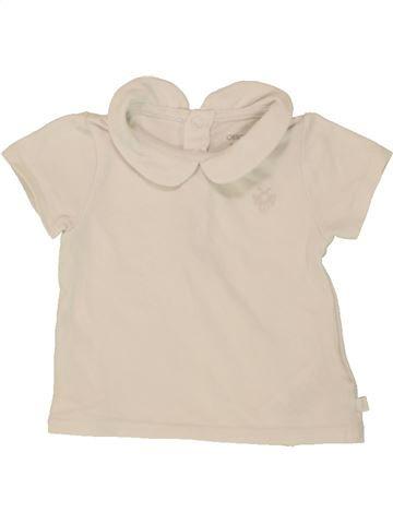 T-shirt manches courtes fille OKAIDI bleu 3 mois été #1496933_1