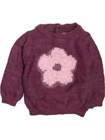 Pull fille F&F violet 6 mois hiver #1496960_1