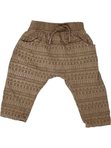 Pantalon garçon VERTBAUDET marron 12 mois été #1496973_1
