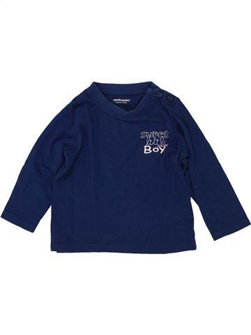 Camiseta de manga larga niña VERTBAUDET azul 12 meses invierno #1496989_1