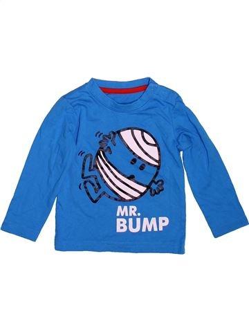 T-shirt manches longues garçon MONSIEUR MADAME bleu 9 mois hiver #1497122_1