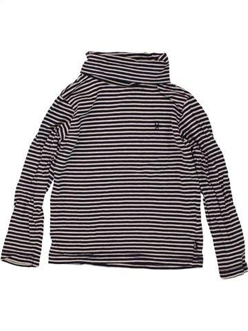 Camiseta de cuello alto niña OKAIDI beige 4 años invierno #1497209_1