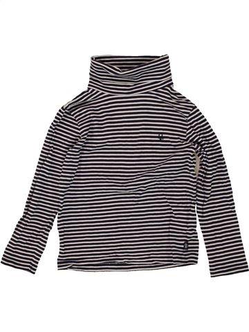 T-shirt col roulé fille OKAIDI beige 4 ans hiver #1497212_1