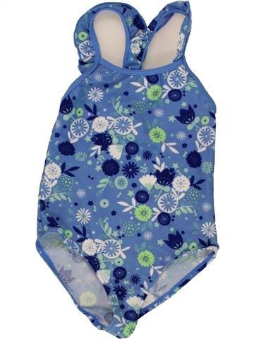Maillot de bain fille VERTBAUDET bleu 4 ans été #1497273_1