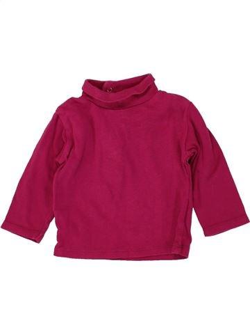 T-shirt col roulé fille KIABI violet 9 mois hiver #1497465_1