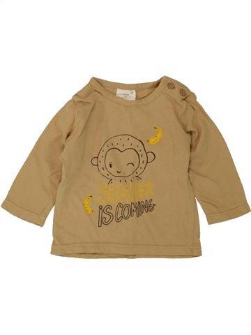 Camiseta de manga larga niño KIABI marrón 3 meses invierno #1497495_1