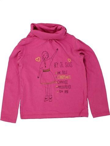 Camiseta de cuello alto niña VERTBAUDET rosa 4 años invierno #1497502_1