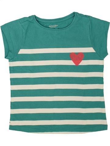 Camiseta de manga corta niña VERTBAUDET verde 5 años verano #1497513_1