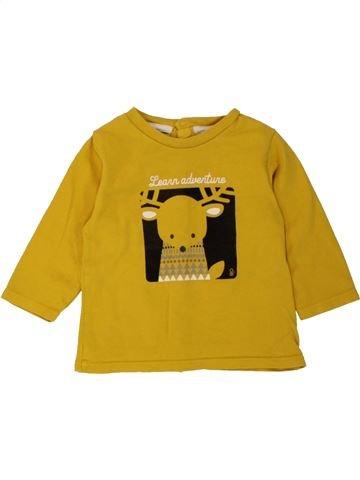 T-shirt manches longues garçon OKAIDI jaune 6 mois hiver #1497568_1