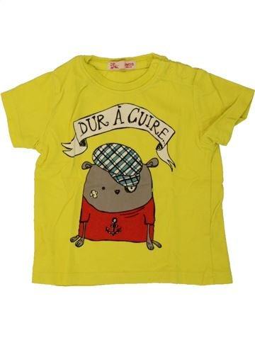 T-shirt manches courtes garçon DPAM vert 3 mois été #1497755_1