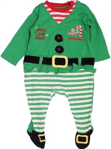 Pijama de 1 pieza niño GEORGE verde 6 meses invierno #1497826_1