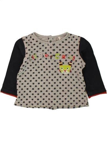 T-shirt manches longues garçon ORCHESTRA gris 9 mois hiver #1497830_1