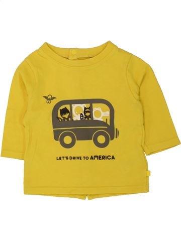 T-shirt manches longues garçon OKAIDI jaune 3 mois hiver #1497880_1