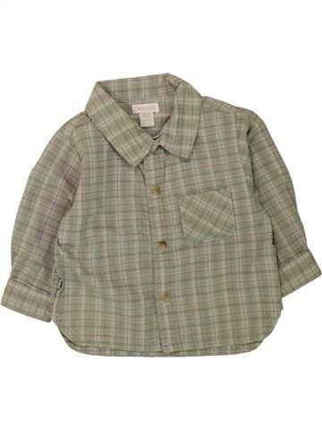 Chemise manches longues garçon OKAIDI vert 6 mois hiver #1497884_1