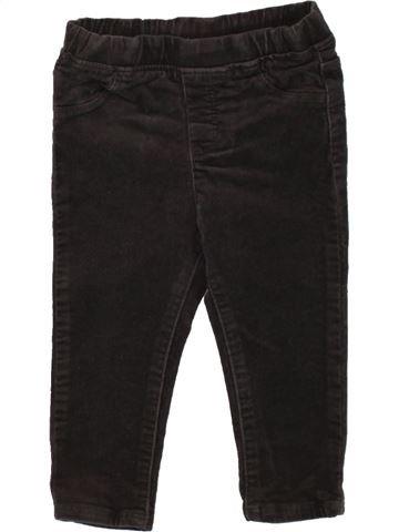 Pantalon fille OKAIDI noir 18 mois hiver #1497919_1