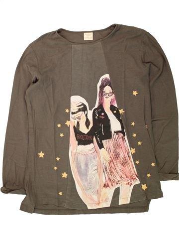 Camiseta de manga larga niña ZARA marrón 14 años invierno #1498059_1