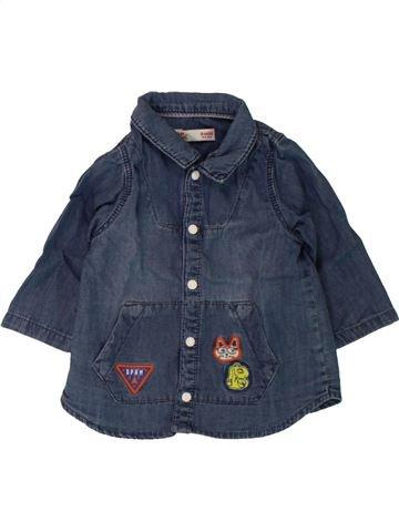 Chemise manches longues garçon DPAM bleu 3 mois hiver #1498068_1